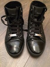 Gucci Black Leather High Top Trainers Ladies - BARGAIN