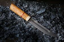 Russian steel damascus ethnic knife wood YAKUT handmade army ussr hunting
