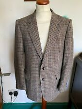 Mens Vintage C&A Canada Brown Check Tweed Houndstooth Blazer Jacket Chest 38in