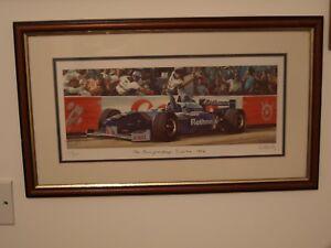 DAMON HILL WINNING THE 1996 WORLD CHAMPIONSHIP AT SUZUKA BY ROSS WARDLE,