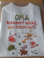 XL Latz OMA kleckert nicht, Lätzchen für Erwachsene witzige tolle Geschenkidee