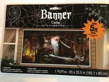 Haunted Mansion Halloween Banner Scene Setter Wall Poster 5' Horizontal