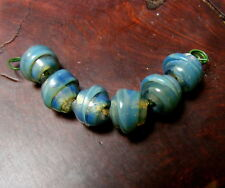 LGL- Handmade Lampwork Spacer Beads MINI Series Nc2058- NEPTUNE SATELLITES- SRA
