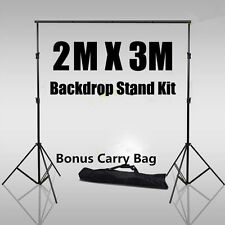 2x3m Adjustable Background Support Photo Studio Backdrop Stand System Kit