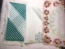 Vintage Lot of 5 ~ Floral Hankies ~ Unused ~ Handkerchiefs Lady Heritage