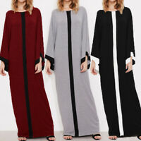 ZANZEA Womens Flare Casual Loose Cocktail Party Maxi Long Kaftan Dress Plus Size