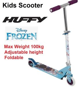 Huffy Scooter Disney Frozen Kids Childrens Ride On Scooter Foldable Handle 100kg