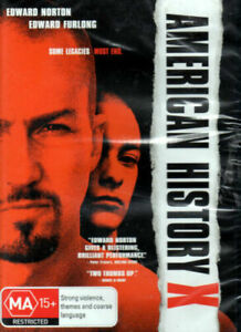 AMERICAN HISTORY X DVD EDWARD NORTON REGION 4 NEW AND SEALED