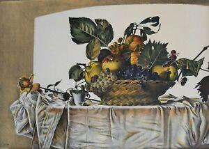 """Walter Falconi litografia """"cesto di frutta"""" 70x50 firmata numerata 21/99"""