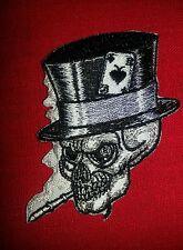 Smoking Top Hat Skull Patch FREE SHIPPING