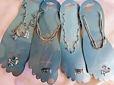 4 Sets Of Anklet And Matching Toe Rings