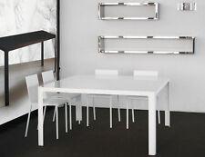 Table haute 140x140 métal laqué blanc Editeur: Zeus / Modèle: Métisse