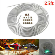 Galvanized Iron Brake Line Tubing Kit 3/16'' OD 25 Foot Coil Roll Universal Fit