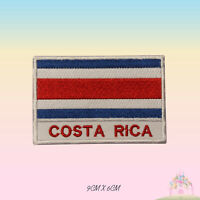 Costa Rica National Flag With Name Embroidered Iron On Patch Sew On Badge