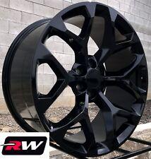 "20"" inch 20 x9"" Wheels for Chevy Silverado 1500 Gloss Black Rims CK156"