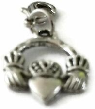 SILVER CLADDAGH RING 1 CLIP ON CHARM - TIBET SILVER - LOOK AT MY EBAY SHOP- NEW