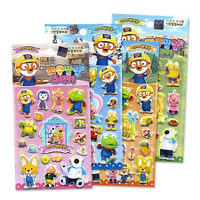 Pororo sticker 4pcs set / Pororo stickers 4P set (standard & sweety)