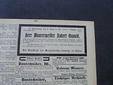 1905 Baugewerkszeitung 21 / Nachruf Quandt Calau / Junkers Dessau / Abort Weimar