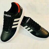 Adidas Hoops 2.0 [EE7800] Men Casual Shoes Size 10.5 Black/Grey-Active Red