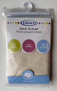 """GRACO Pack 'n Play Fitted Playard Sheet~NEW in package tan/Candlestick 27"""" X 39"""""""