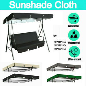 UK 2/3 Seater Garden Park Sizes Replacement Canopy For Swing Seat Hammock Cover