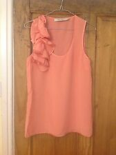 Reiss Silk Coral Pink Summer Blouse Top 8