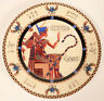 """Fathi Mahmoud 6"""" Collectors Saucer Plate Mighty Osiris Pate Et Email Limoges New"""