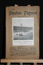 ANCIENNE REVUE HAUTES FAGNES N° 1 DE 1945.