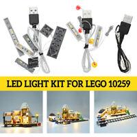 LED Light String Kit für LEGO 10259 Winter Village Station Eisenbahn Licht Set V