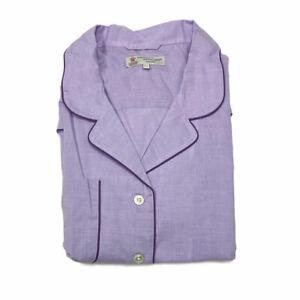 Turnbull & Asser Men's Lilac/Purple Piped Cotton2-Pc Pyjamas PY5717 Sz XL $570