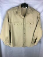 Duxbak Chamois Hunting Shirt Button Up Mens Size 2XL Embroidered A3