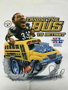 Pittsburgh Steelers T-Shirt Jerome Bettis Super Bowl NFL Sport Football Team New
