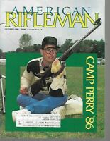 American Rifleman Magazine October 1986 Camp Perry 1986, Remington's Pump Rifles
