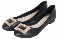 """Women's Flat (less than 0.5"""") Composition Leather Ballerinas Shoes"""