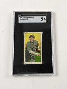 1909-11 Tolstoi Cigarettes T206 Rube Geyer Baseball Card SGC