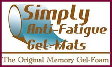 LOT OF TWO Anti-Fatigue Floor Mats for Comfort in Kitchen, Laundry, Shop, Lab