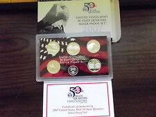 2007 State Quarters Silver Proof Set- FREE SHIPPING