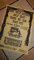 Tombstone Undertakers WILD WEST POSTERS, Novelty reproductions,
