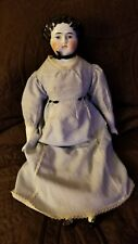 "Antique 19"" China Head Doll with Petticoat and Bloomers - from mid 1800s"