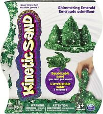 Kinetic Squeezable Play Sand 1lb Shimmering Onyx Never Dries Out~Green & Purple~