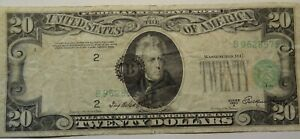 ERROR 1950 A $20 FEDERAL RESERVE NOTE MISALIGNMENT~~~NEW YORK~~~NO HOLES