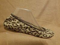 J.Crew 81132 Women Ballet Flat Lula Leopard Print Burlap Beige Brown Shoes Sz 9