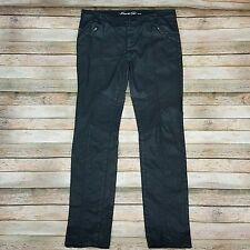 Kenneth Cole Black Faux Leather (Cotton/Spandex) Pants 29 (32X31)