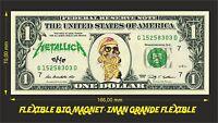METALLICA ONE IMAN BILLETE 1 DOLLAR BILL MAGNET