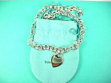 Tiffany & Co Sterling Silver Heart Link  Necklace & Pouch