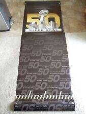 2016 Super Bowl 50 Original Heavy Vinyl Stadium Banner Broncos vs Panthers