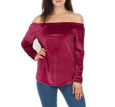 Maglie e camicie da donna in poliestere rosso taglia S