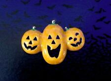 PUMPKIN PIN BROOCH~SPOOKY SCARY HALLOWEEN SEXY WITCH COSTUME ACCESSORY FOR WOMEN