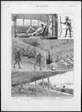 1888 Antiguo Print-India occidental himlayas Negro Montaña Akazai Doda (274)