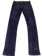 Asos Hombre Oscuro Deslavado Denim Azul Súper Pantalones Vaqueros Pitillo Talla